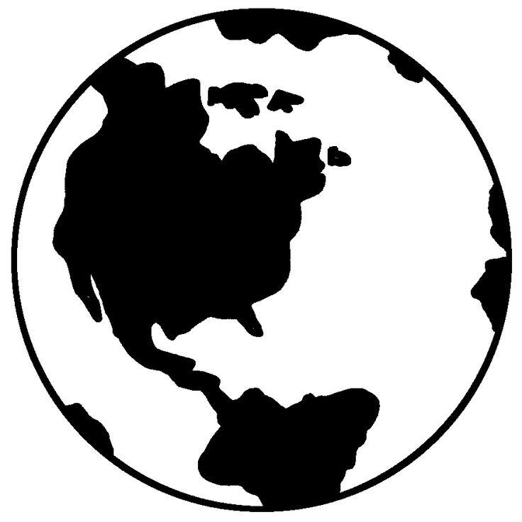 736x736 Earth Clipart Silhouette