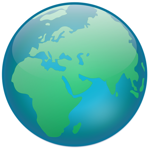 500x497 433 planet earth clip art free Public domain vectors