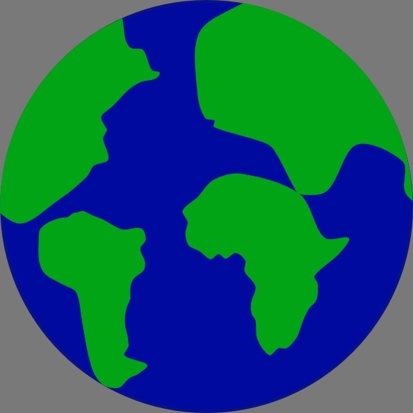 594x594 Jonadab Earth With Continents Separated clip art Free vector in