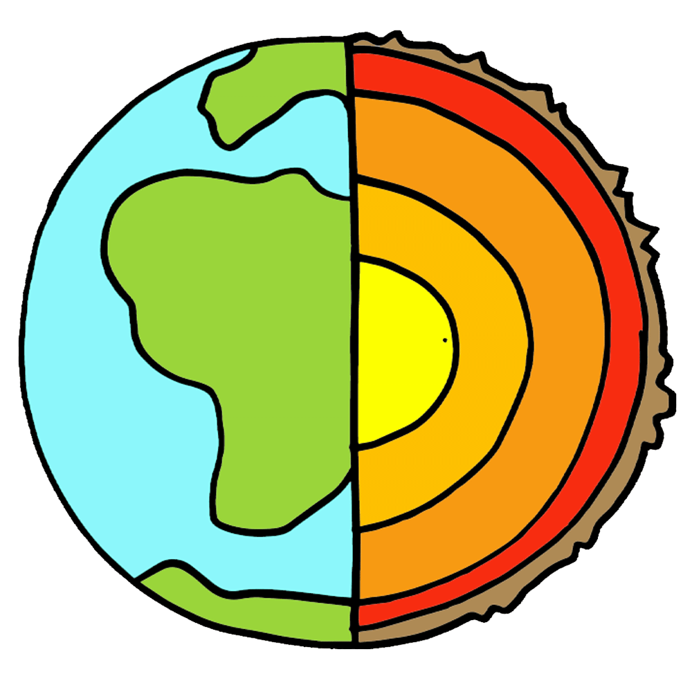 1000x1000 Layers of the earth clipart
