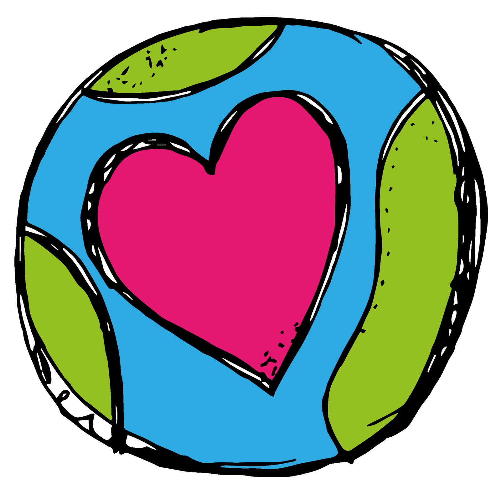 1600x1562 Earth Clipart Heart