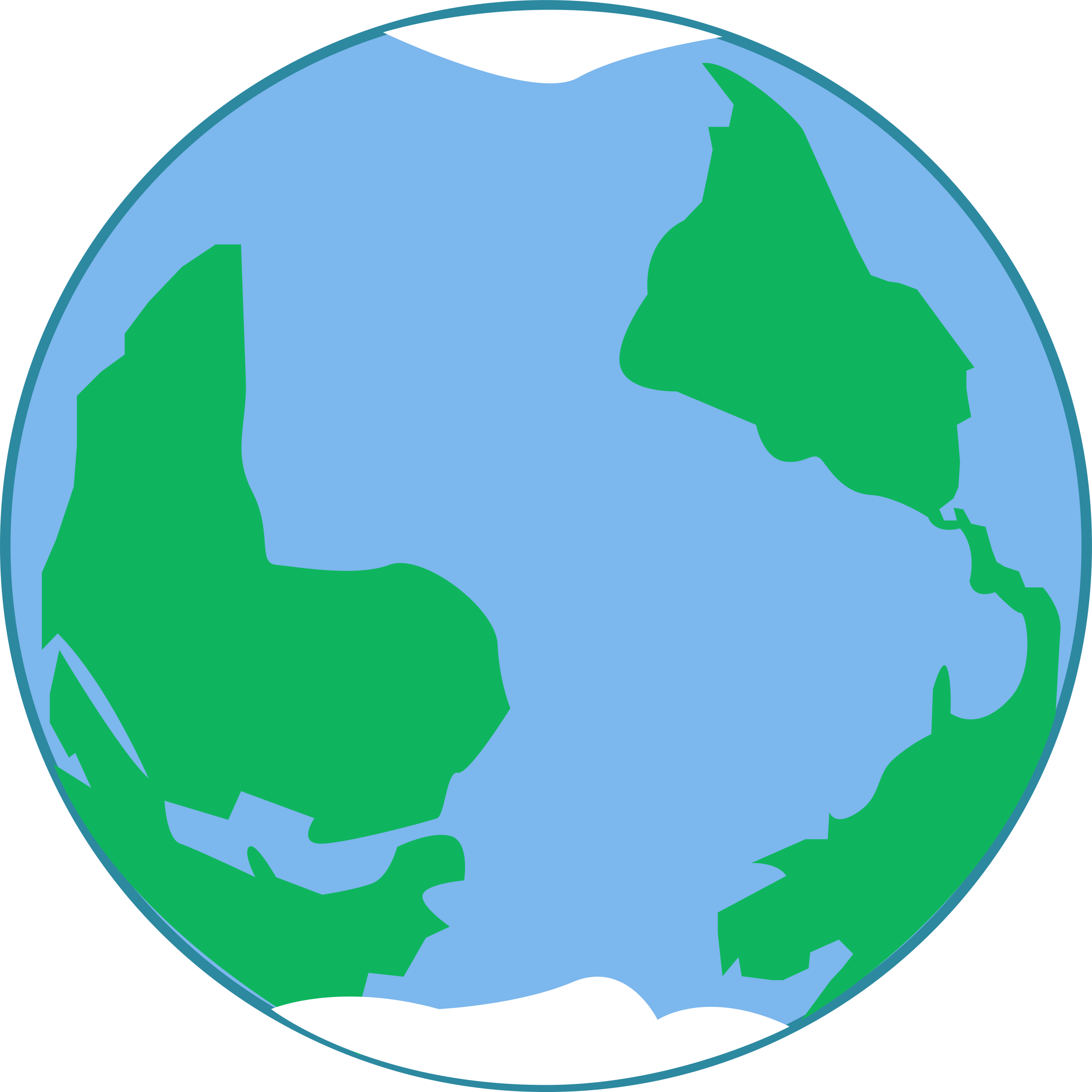 2400x2400 World Simple Planet Earth Clipart Kid