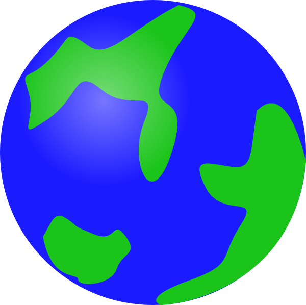 600x598 Blue Globe Png, Svg Clip Art For Web