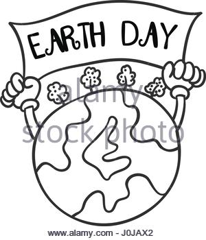300x350 Collection Of World Hand Draw Earth Day Stock Vector Art
