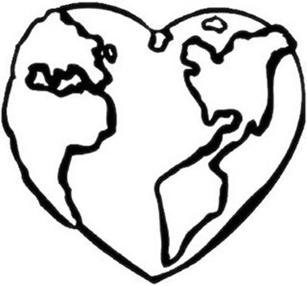 600x559 Heart Shaped Clipart Earth