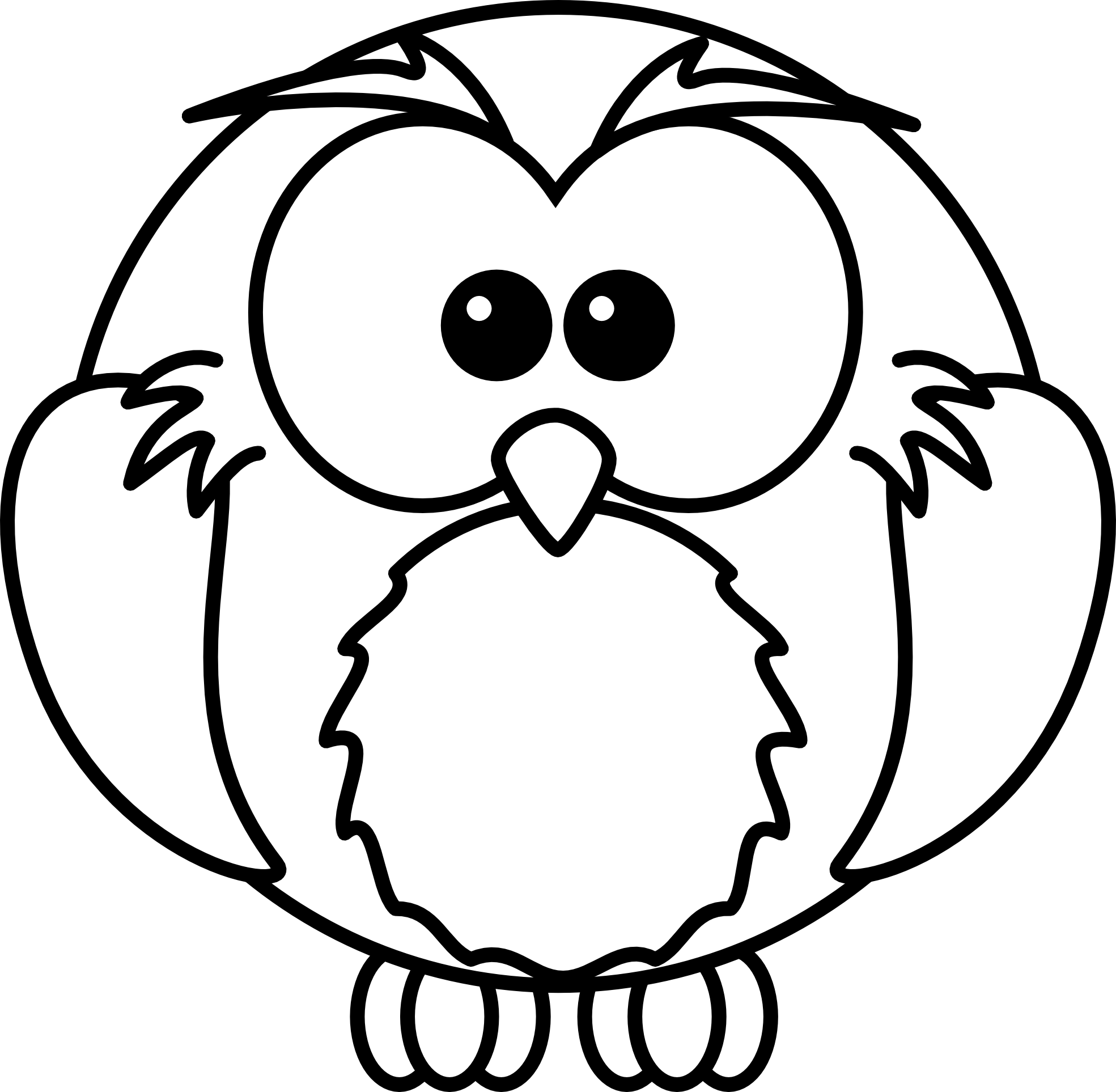 1969x1926 Black And White Owl Clip Art Many Interesting Cliparts