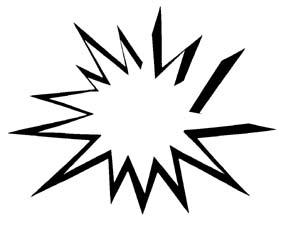 292x225 Black Burst Clipart
