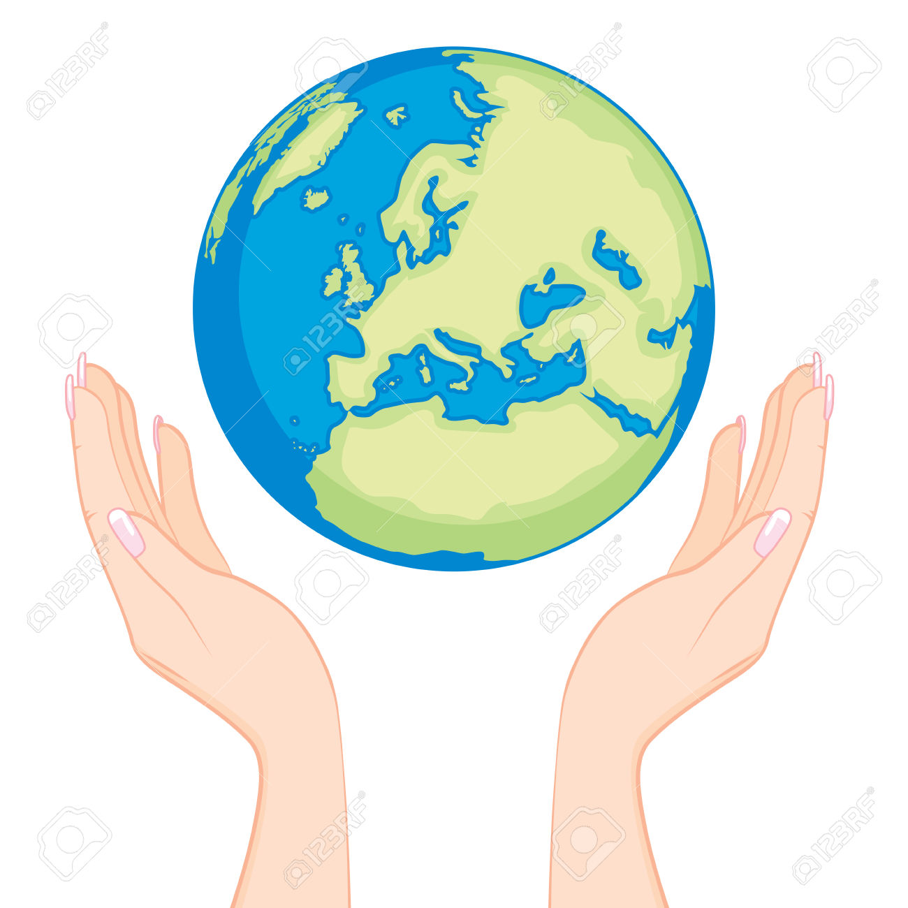 1300x1300 Globe Clipart Hand Holding