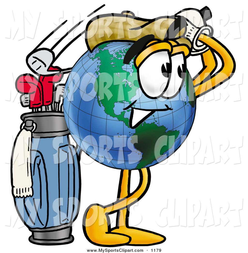 1024x1044 Sports Clip Art of a Sporty World Earth Globe Mascot Cartoon