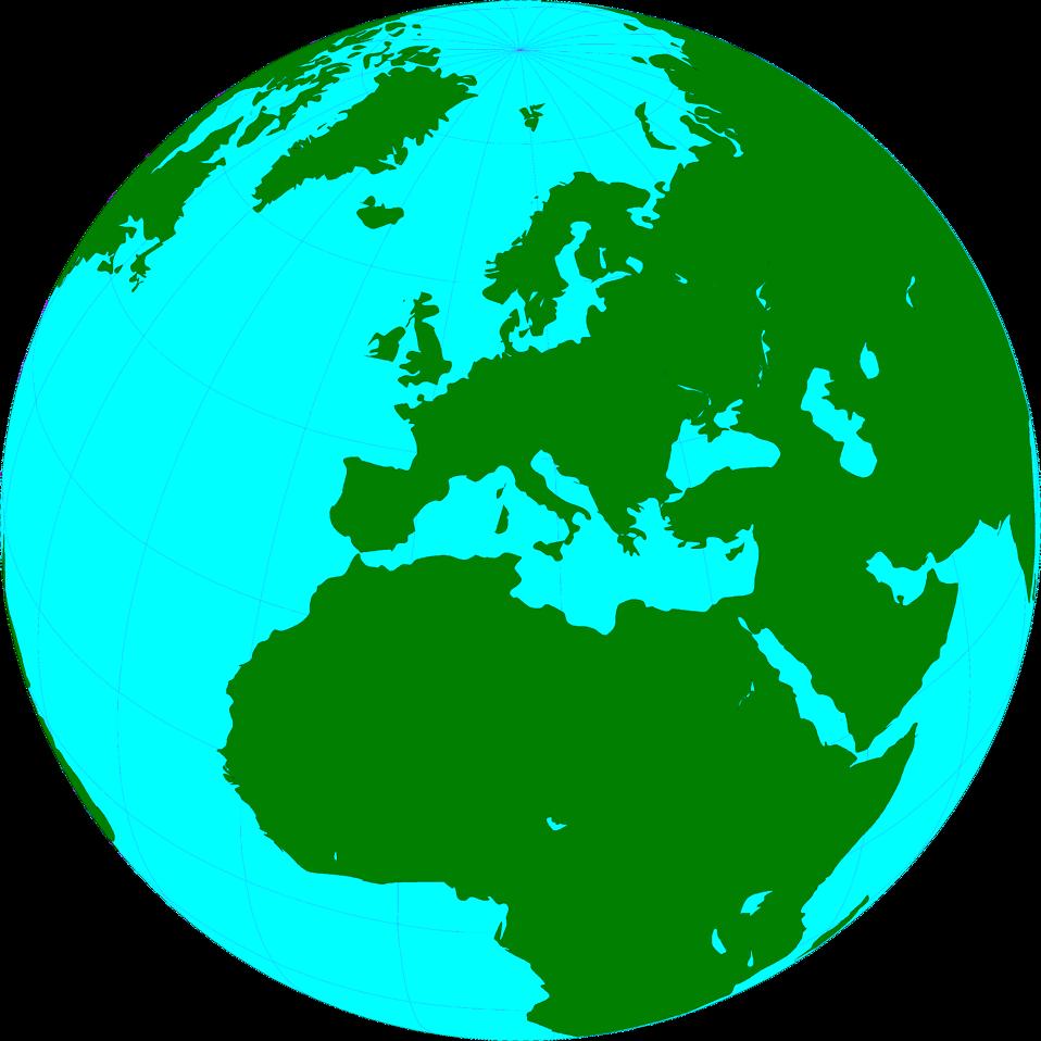 958x958 Transparent World Globe Clipart
