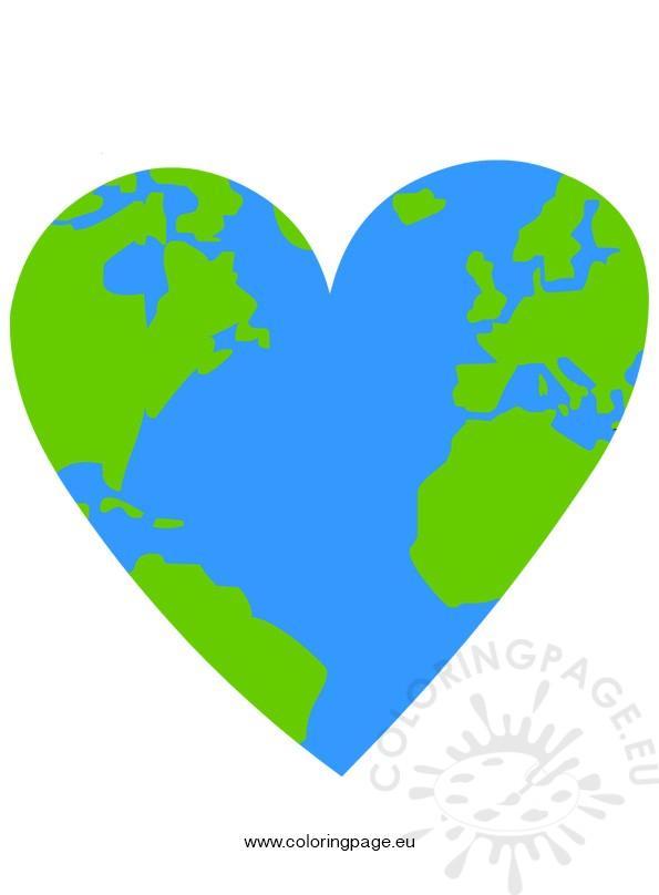 595x808 Earth Clipart Heart Shaped
