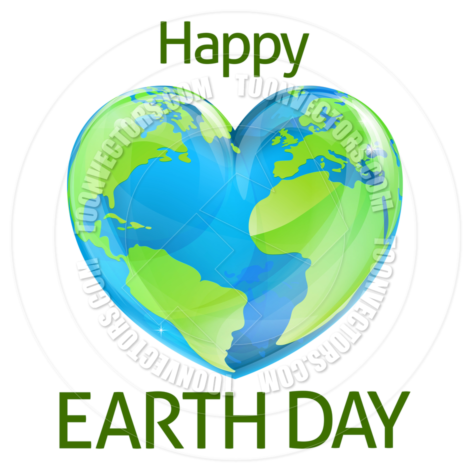 940x940 Happy Earth Day Heart Globe Design By Geoimages Toon Vectors Eps