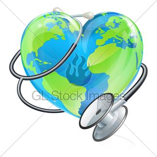 325x325 Heart Earth Day World Globe Cartoon Mascot Gl Stock Images