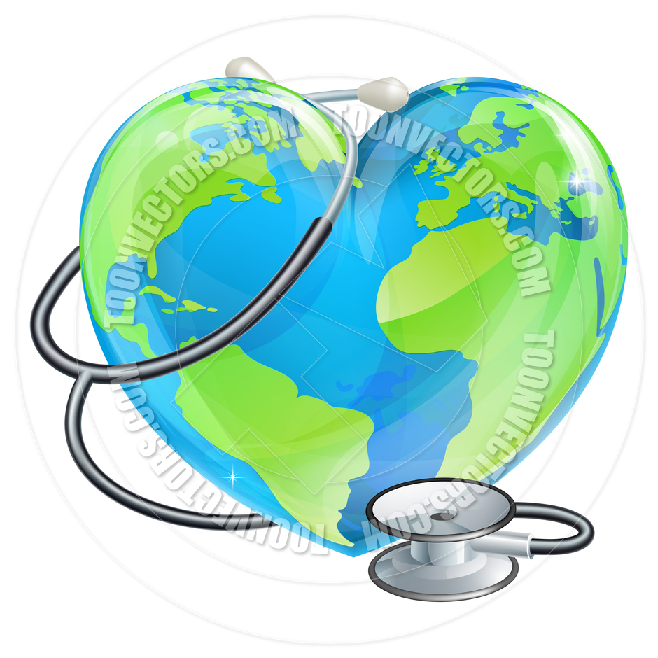 940x940 Heart Globe Stethoscope Earth World Health Concept By Geoimages