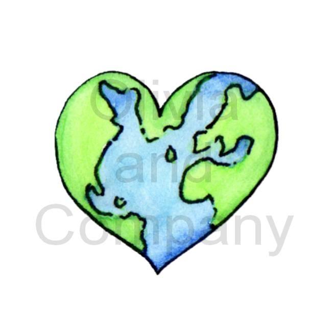 650x650 Heart Clipart Earth
