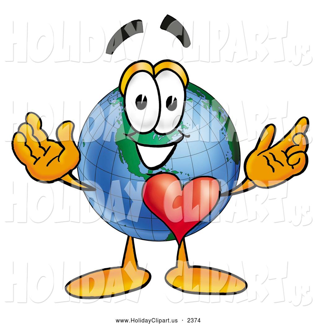 1024x1044 Holiday Clip Art Of A Friendly World Earth Globe Mascot Cartoon