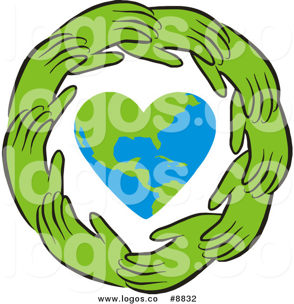 600x620 Royalty Free Clip Art Vector Ring Of Green Hands Around A Heart