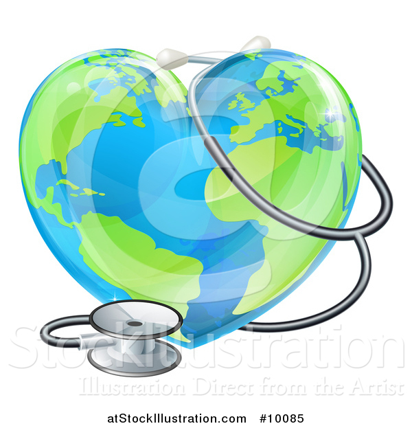 600x620 Vector Illustration Of A 3d Medical Stethoscope Around A Heart