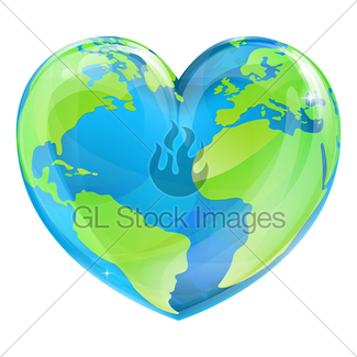 325x325 Cartoon World Earth Day Heart Thumbs Up Character Gl Stock Images