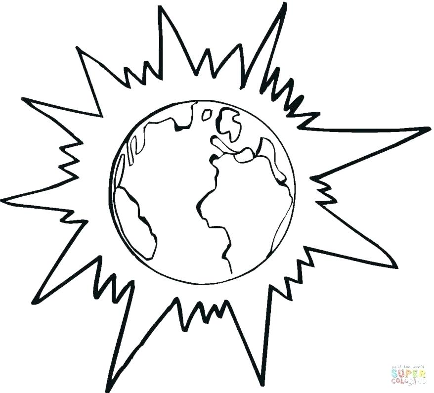878x795 Planet Earth Coloring Pages Earth For Colouring Coloring Pages