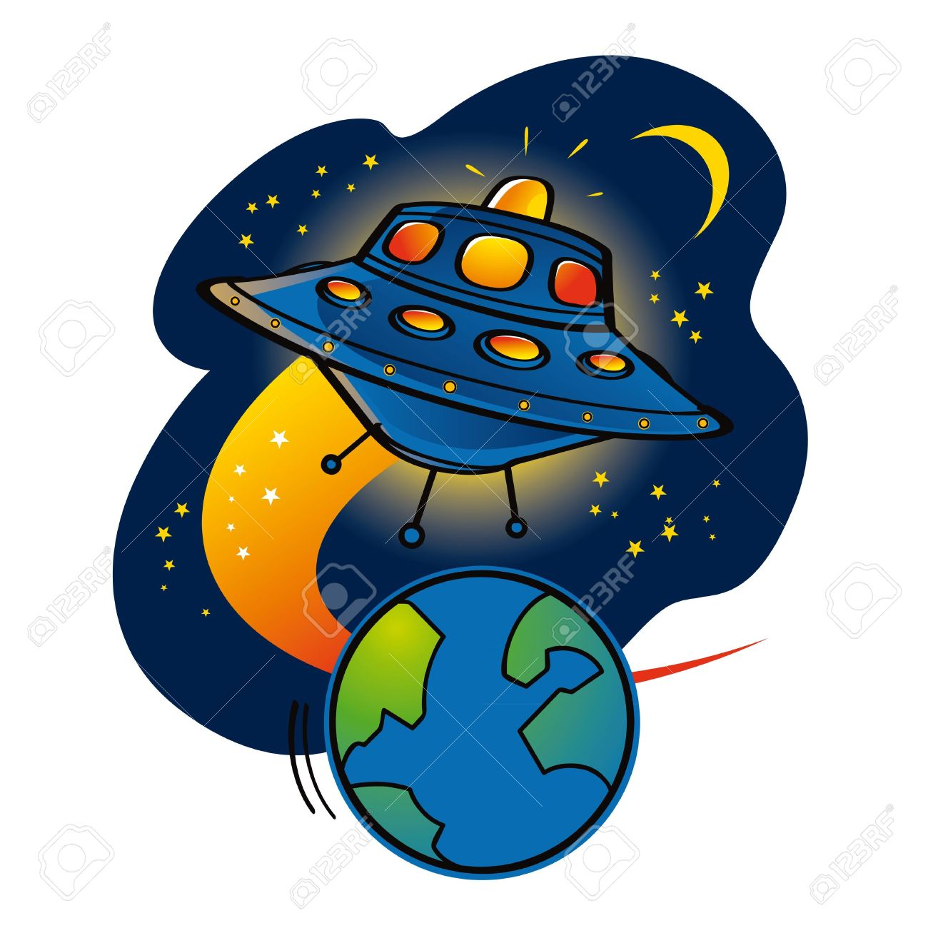 1300x1300 Earth And Space Clipart