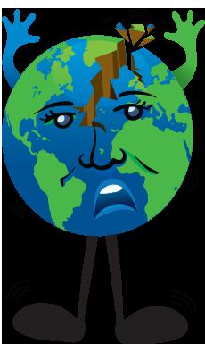 230x385 Earth Clipart Earthquake