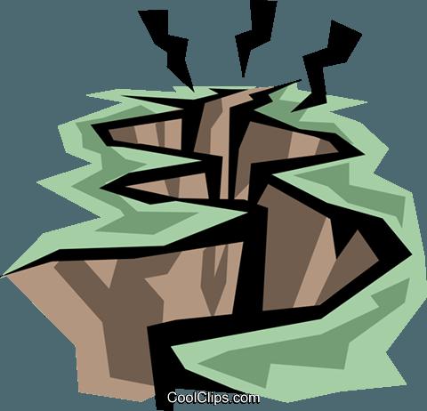 480x462 Earthquake Royalty Free Vector Clip Art Illustration Envi0122