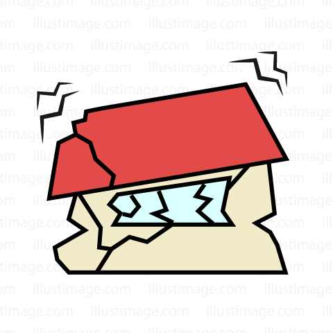 480x480 Earthquake Clipart Destroyed House