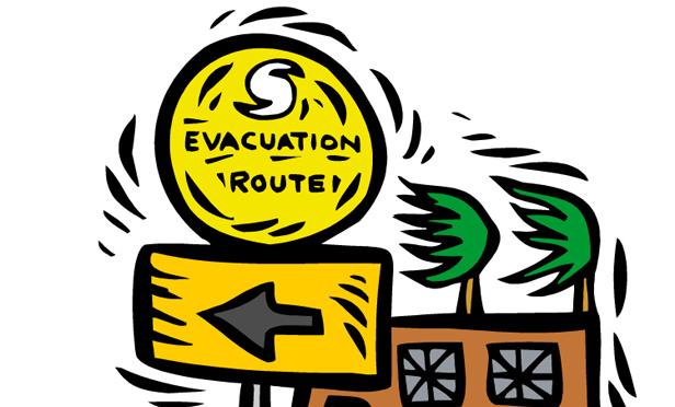 616x372 Earthquake Evacuation Clipart