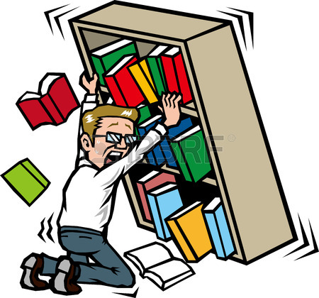 450x420 Those Who Hold The Bookshelf In The Earthquake Royalty Free