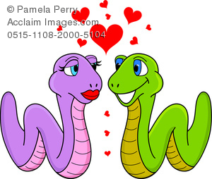 300x254 Art Image Of A Cartoon Of A Worm Couple In Love