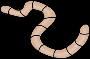 296x195 Brown Earth Worm Clip Art