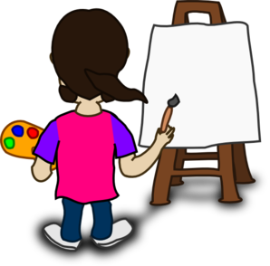 298x294 Cartoon Character Painting Blank Slate Clip Art