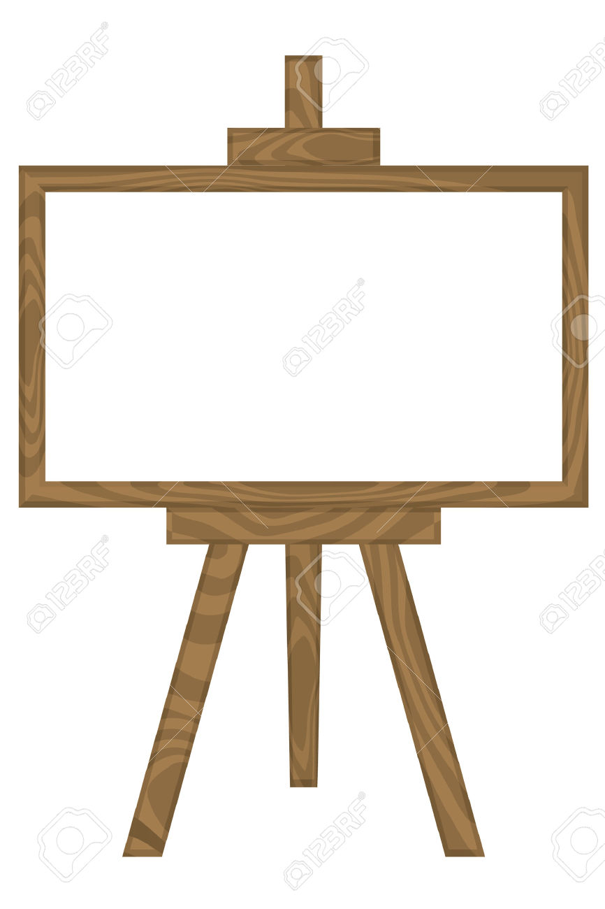 866x1300 Easel Stand Clip Art Clipart