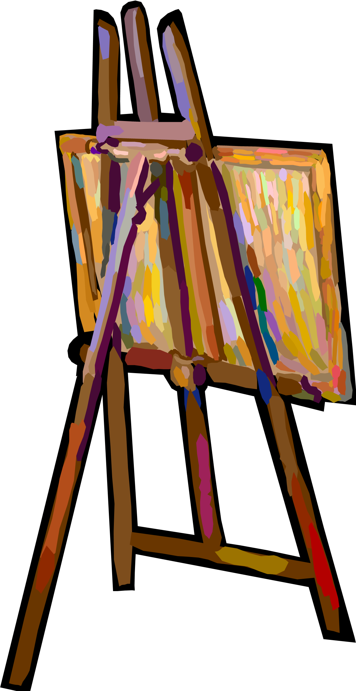 1213x2352 Exhibit Clipart Easel