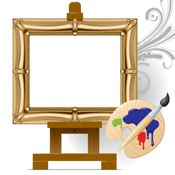 600x600 Vector Drawing Board Easel Art Free Vector 4vector