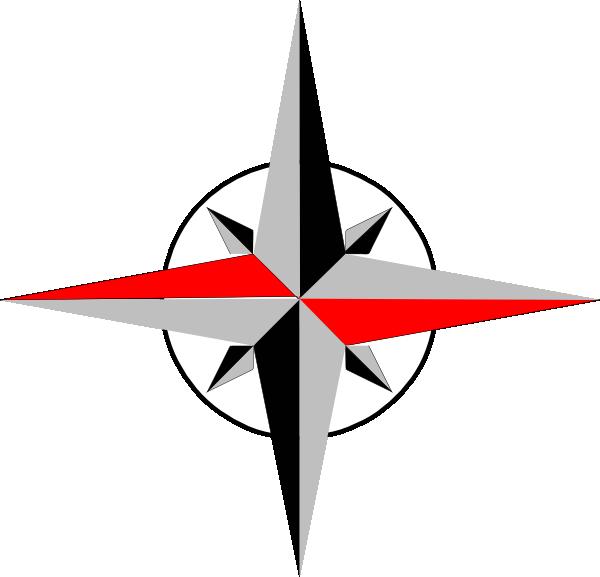 600x577 East West Compass Clip Art