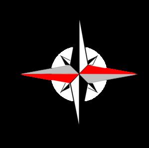 299x297 East West Compass Six Clip Art