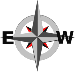298x288 Compass East And West Clip Art