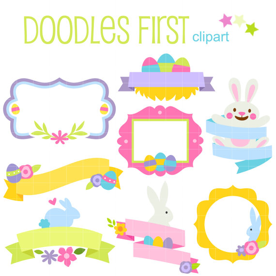 570x570 Easter Frames And Banners Digital Clip Art For Scrapbooking Card