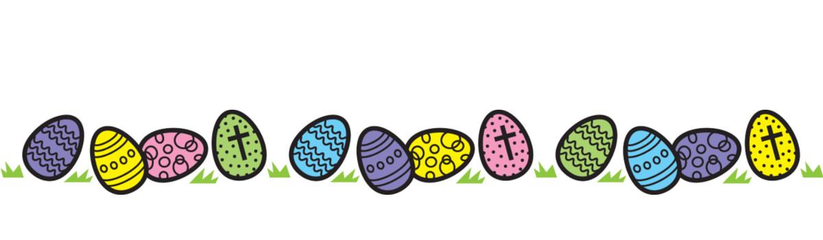 1200x350 Egg Clipart Easter Banner