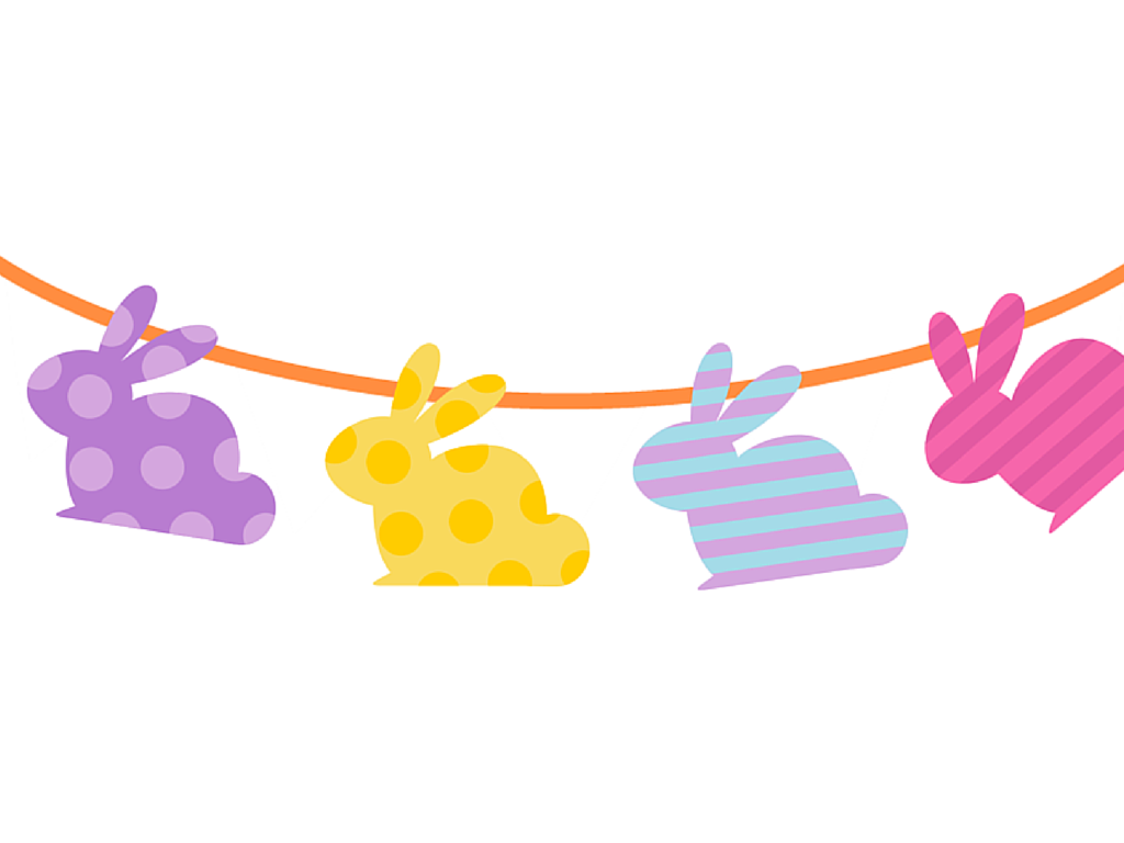 1024x768 Free Printable Easter Banner Amp Cupcake Toppers