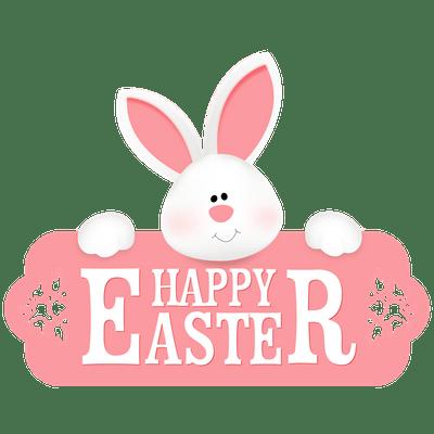 400x400 Happy Easter Egg Banner Transparent Png