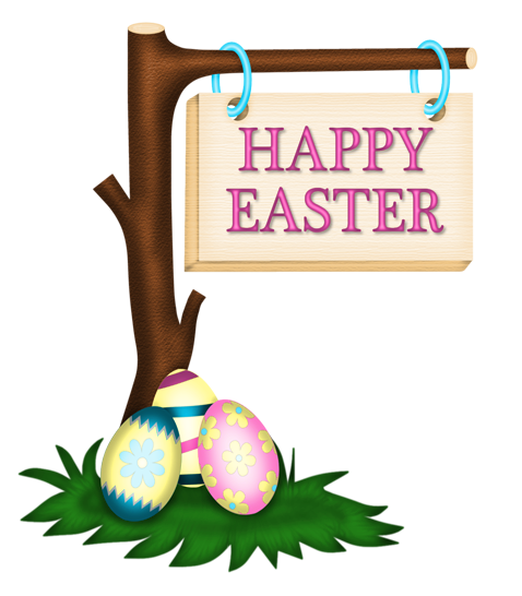 478x546 Happy Easter Banner Clip Art Image