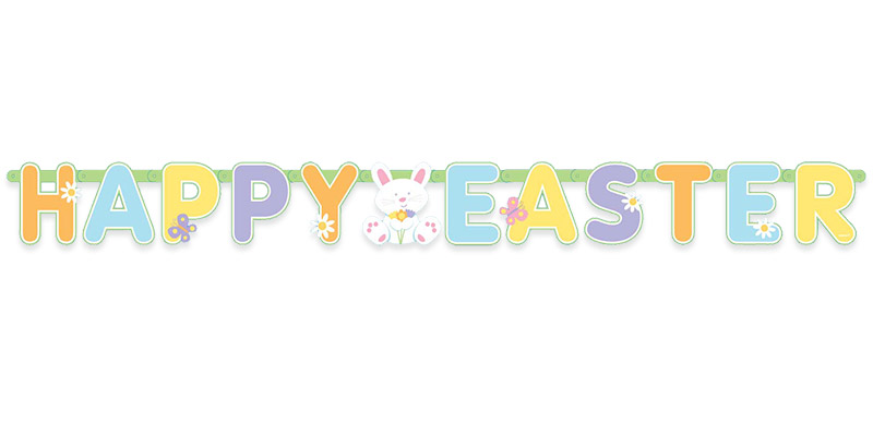 graphic relating to Happy Easter Banner Printable named Easter Banner Cliparts Free of charge obtain least complicated Easter Banner