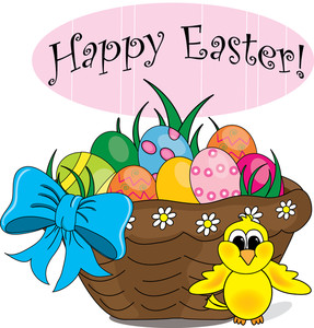 287x300 Easter Basket Clipart Image