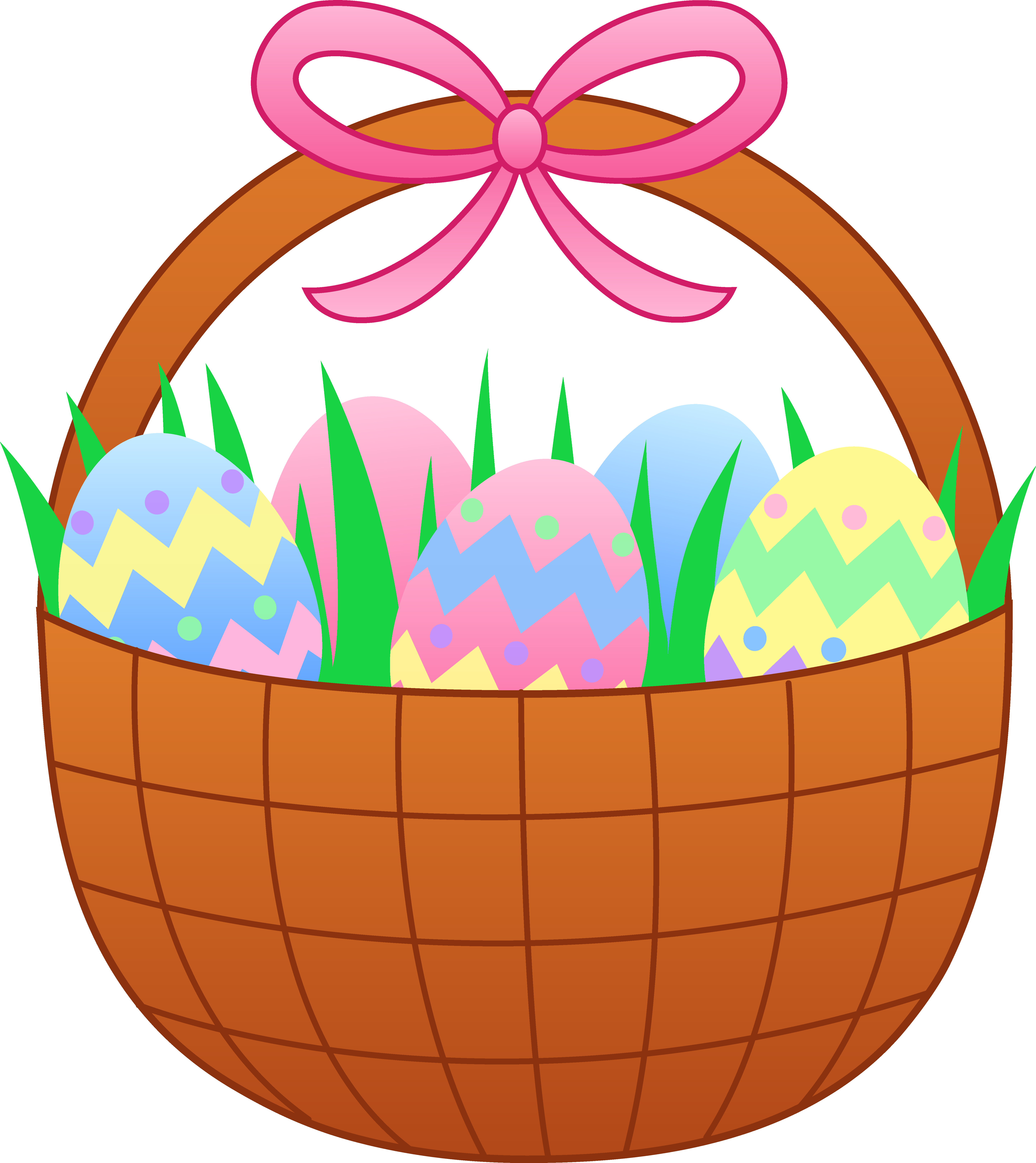 5783x6492 Easter Basket With Colorful Eggs