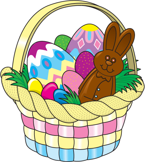 463x519 Basket Clipart Easter