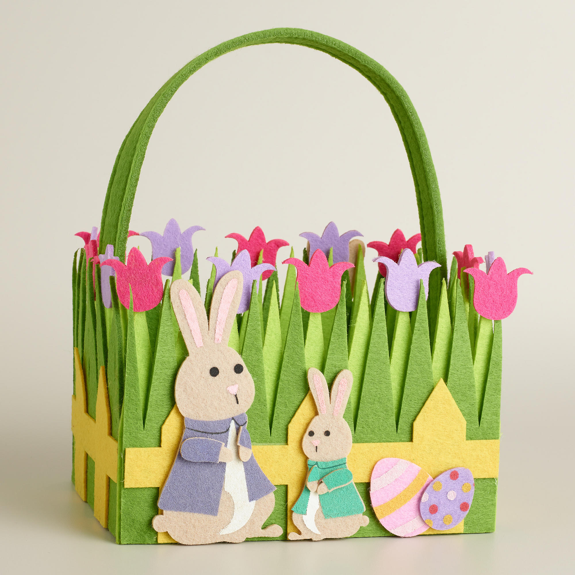2000x2000 Adorable Diy Easter Basket Craft With Lovely Flowers And Green