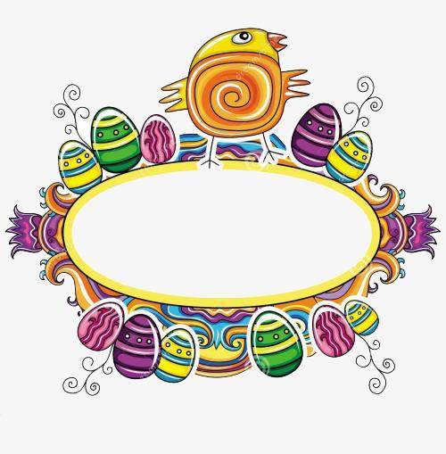 500x509 Easter Border Design, Easter, Frame, Decorate Png Image For Free